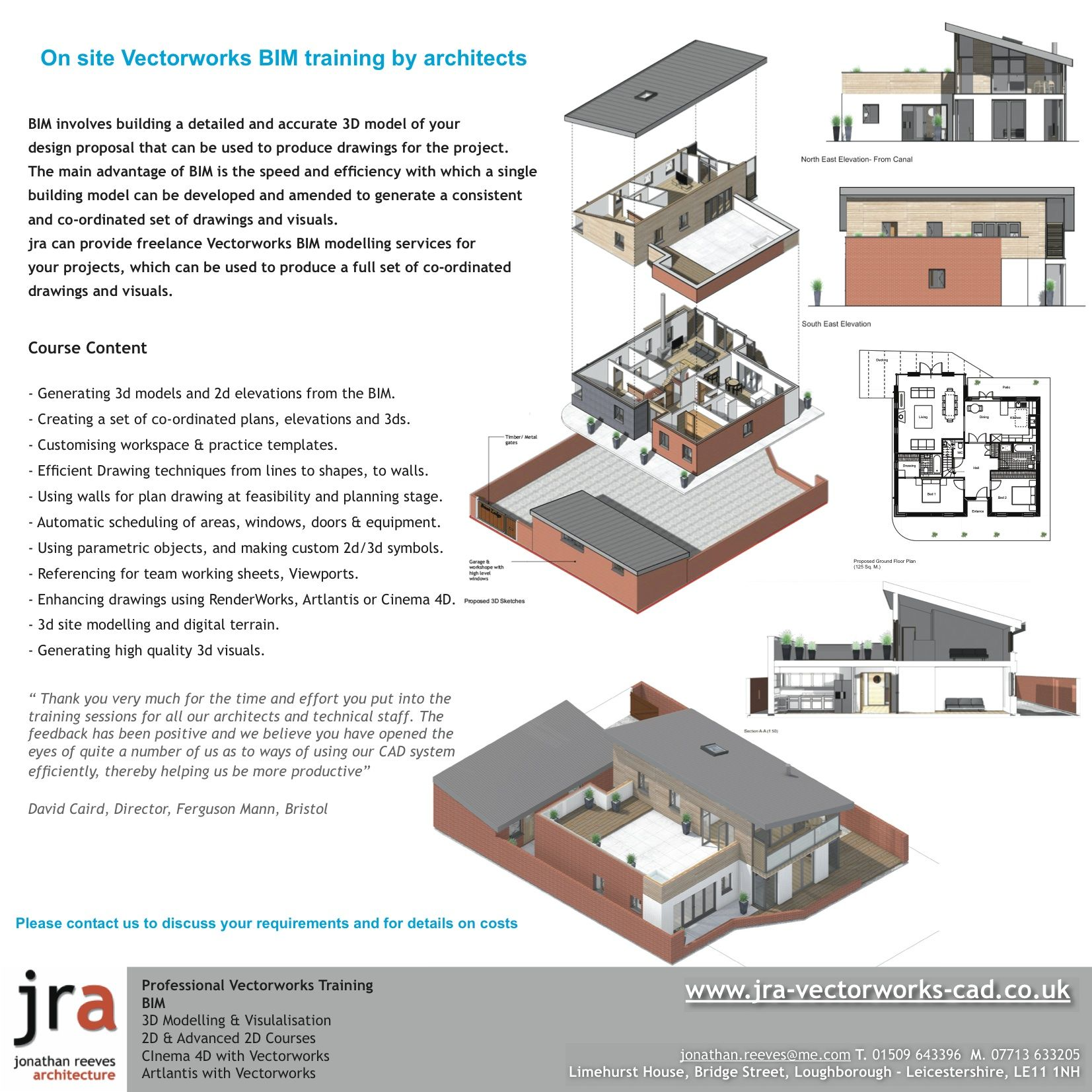 jra Vectorworks Training provides professional CAD training
