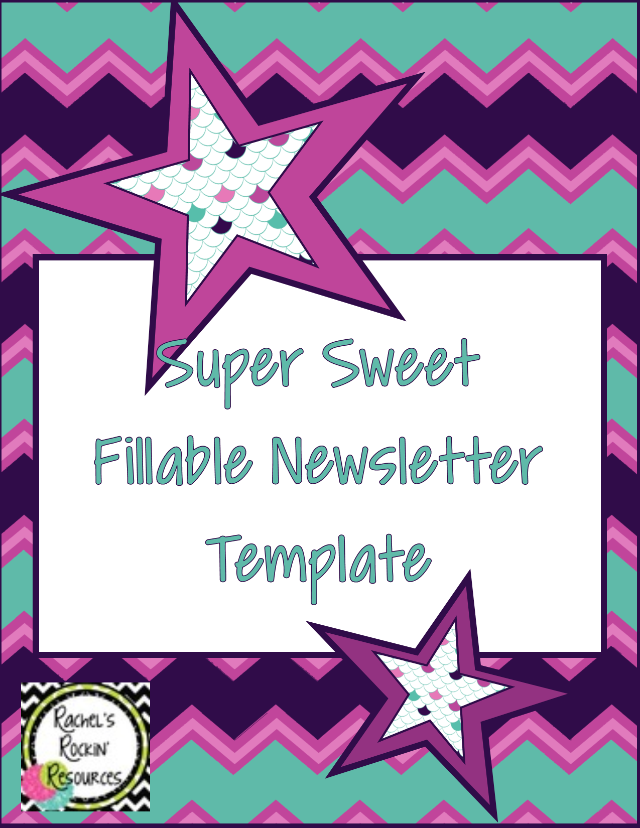 Newsletter Template Fillable Super Sweet Rachel S Rockin