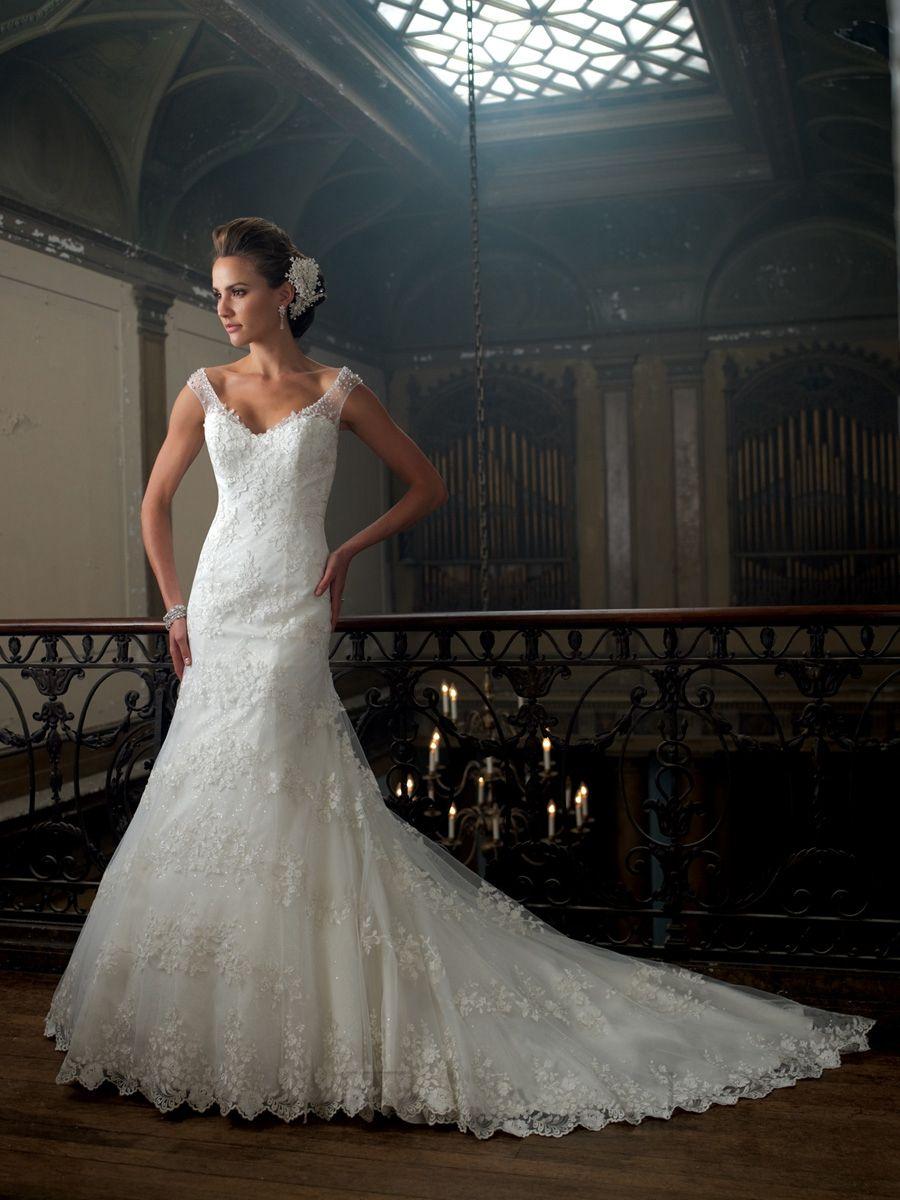 Aline cap sleeves vneck wedding dresses with deep scoop back v
