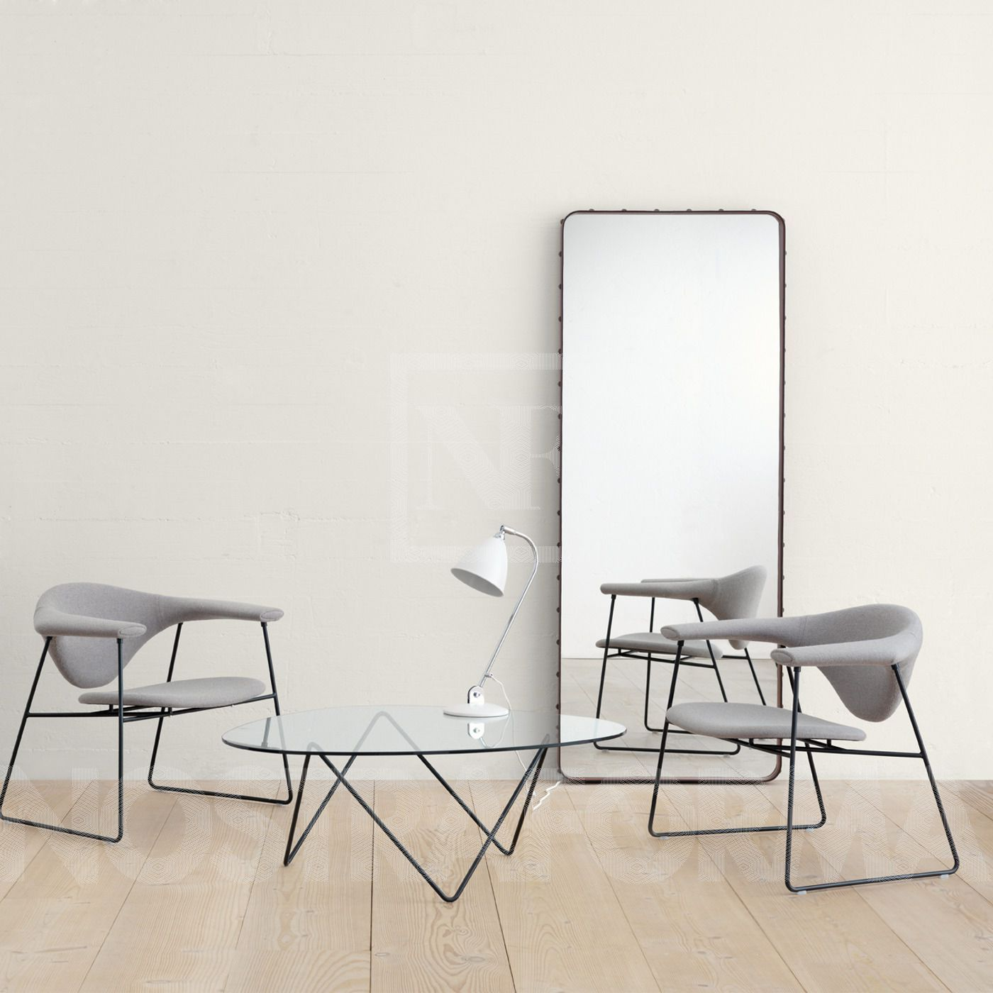 Gubi Adnet Rectangulaire Mirror Modern And Contemporary Lighting