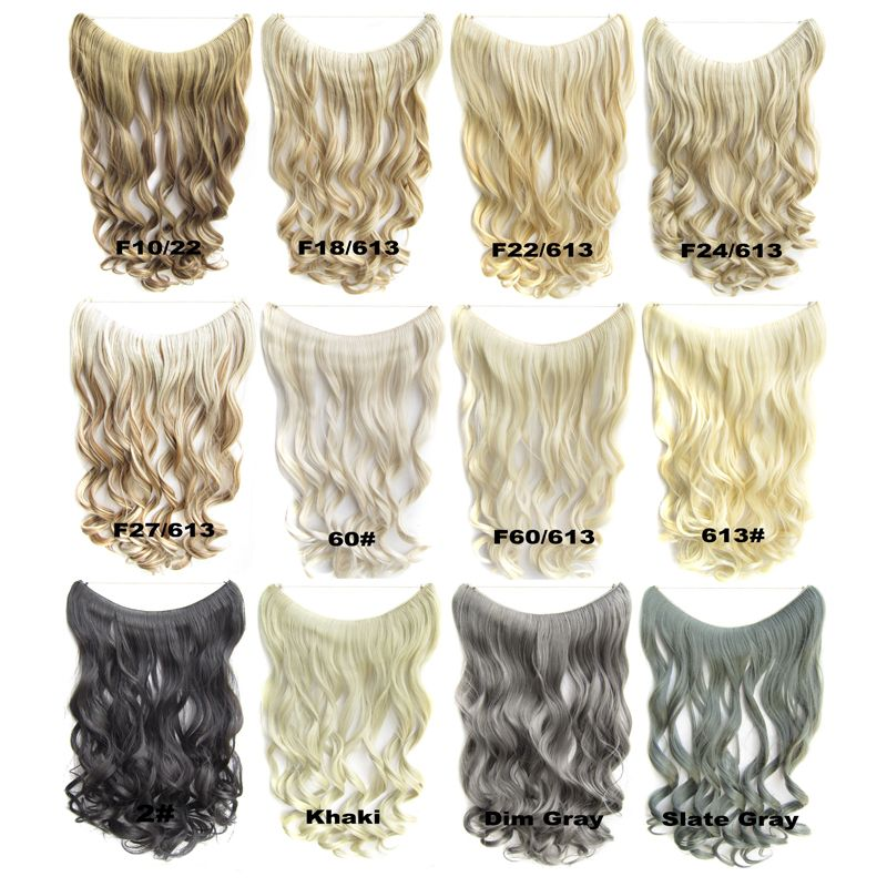 1pc 24inch 100g grey silver no clip hair extensions brazilian 1pc 24inch 100g grey silver no clip hair extensions brazilian natural wave curly invisible synthetic halo pmusecretfo Choice Image