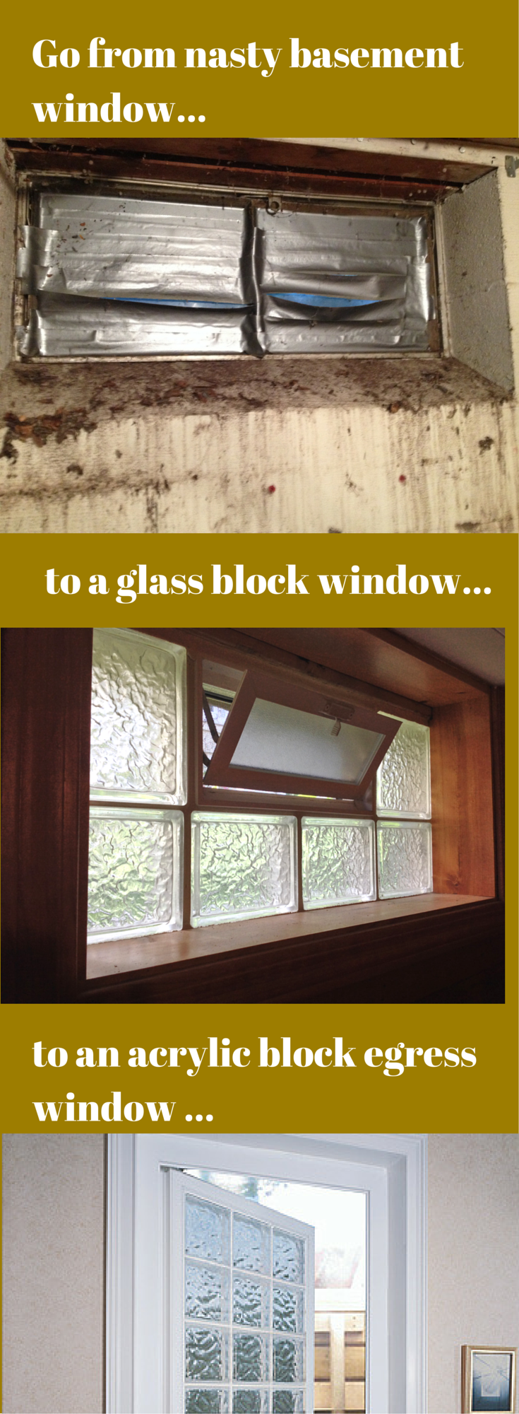 How To Fix The Top 5 Basement Window Problems Basement Windows Glass Block Windows Basement Makeover