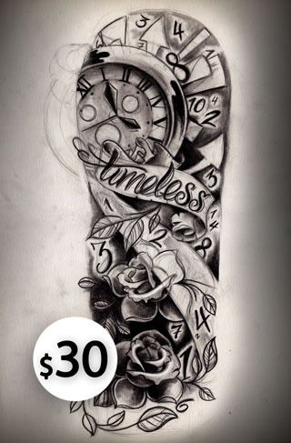 Half Sleeve Tattoos for Women | Timeless half sleeve sketch ...