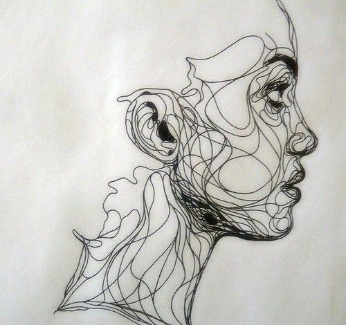 Karalama Sanatı Art Art Drawings Ve Continuous Line Drawing