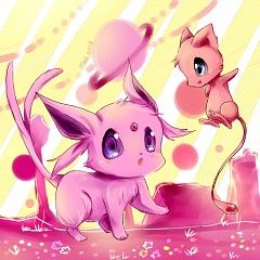 cute espeon & mew <3