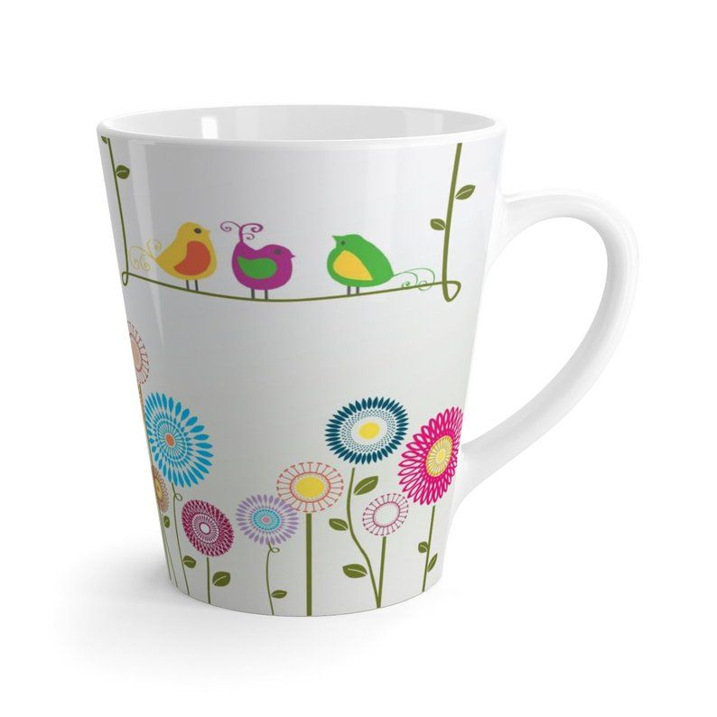 Colorful Garden Latte Cup