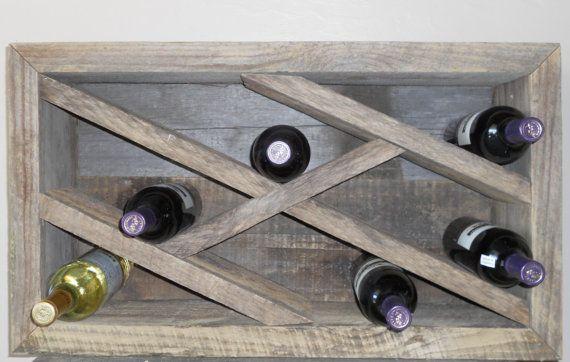 Reclaimed Barnwood Wine Rack by lstalz on Etsy, $260.00
