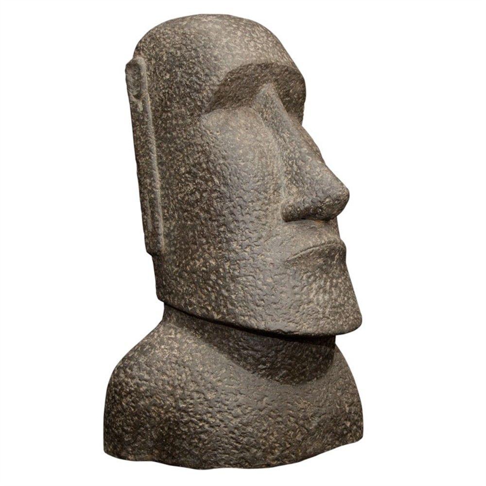 Statue Moai En Pierre Reconstituee H 150 Cm Statue Statues