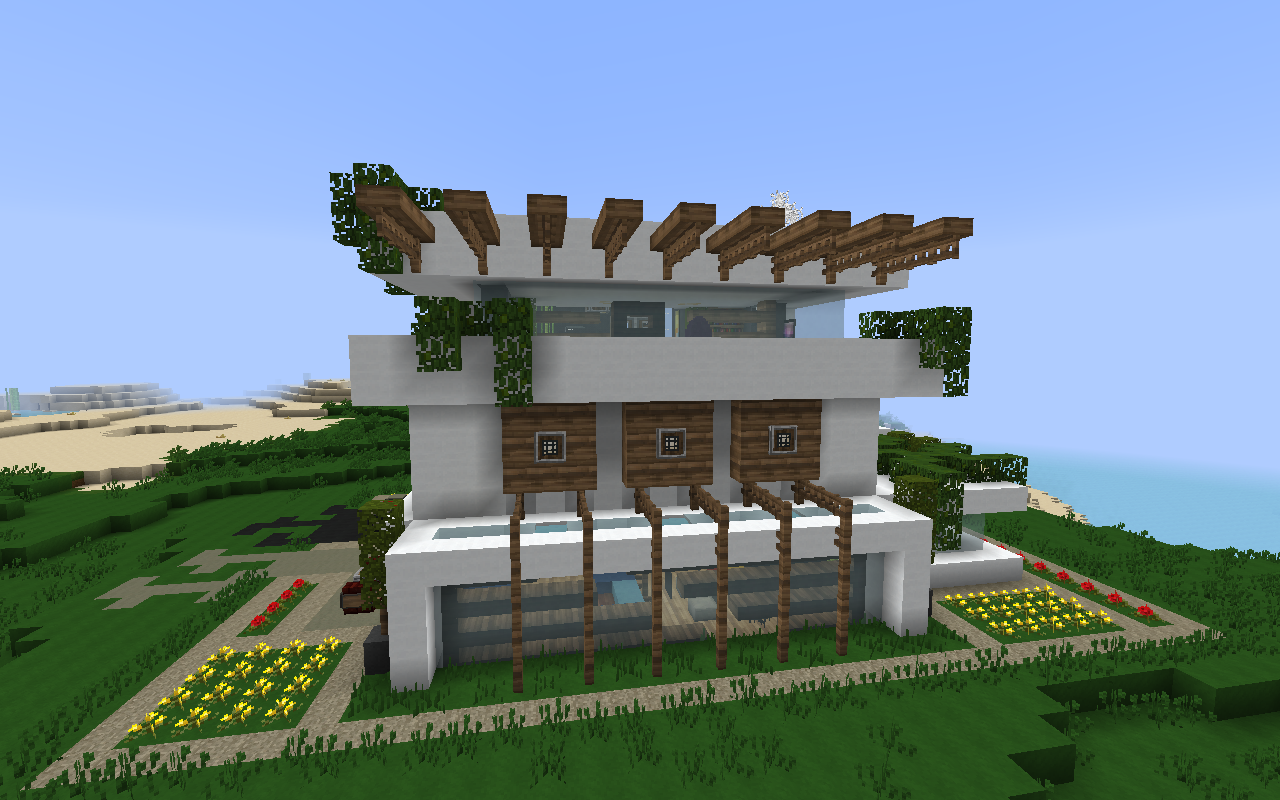 modern nature minecraft house design | important wallpapers