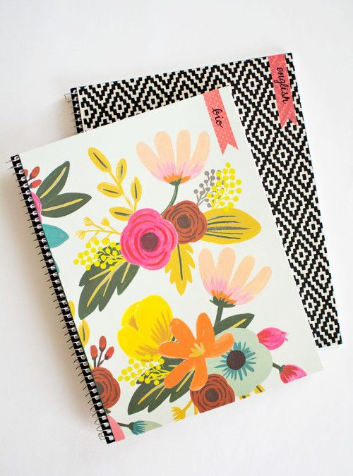 DIY Customizable Notebooks for Back-to-School  sc 1 st  Pinterest & DIY Customizable Notebooks for Back-to-School | DIY Craft Ideas I ...