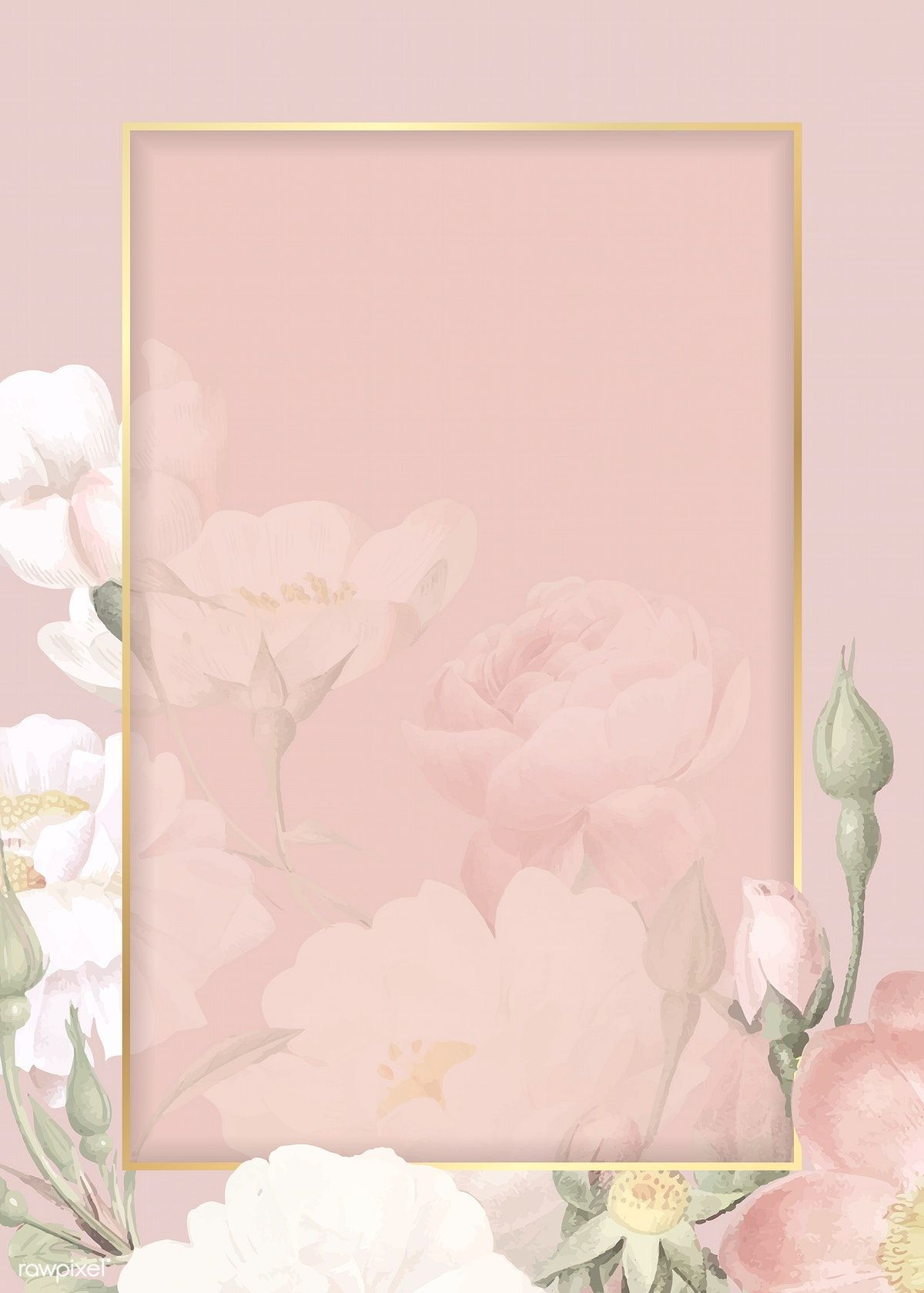 Download premium vector of Hand drawn floral rectangle