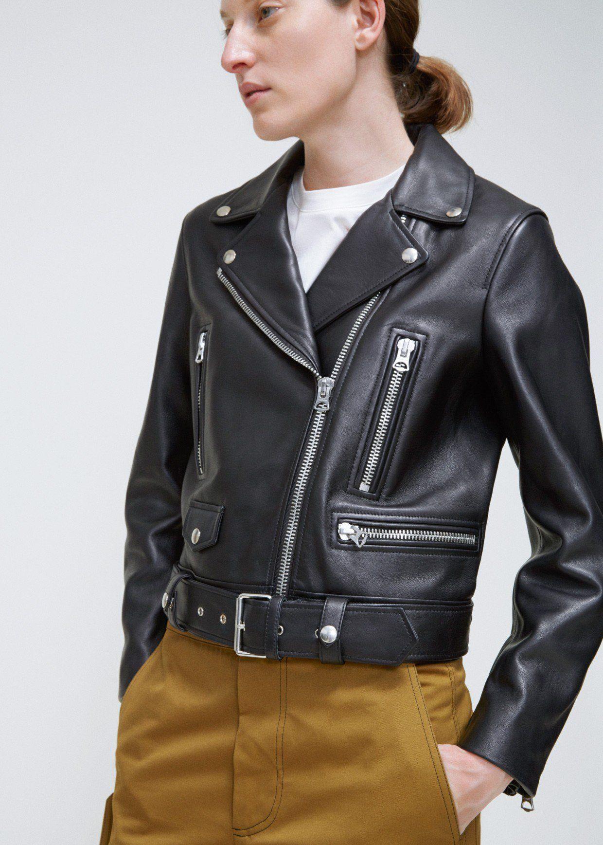 Acne Studios Leather Jacket Leather Jacket Leather Jackets Women Fashion [ 1736 x 1240 Pixel ]