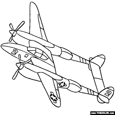 Vintage Coloring Pages At T Yahoo Image Search Results Airplane With Two Propeller Blades