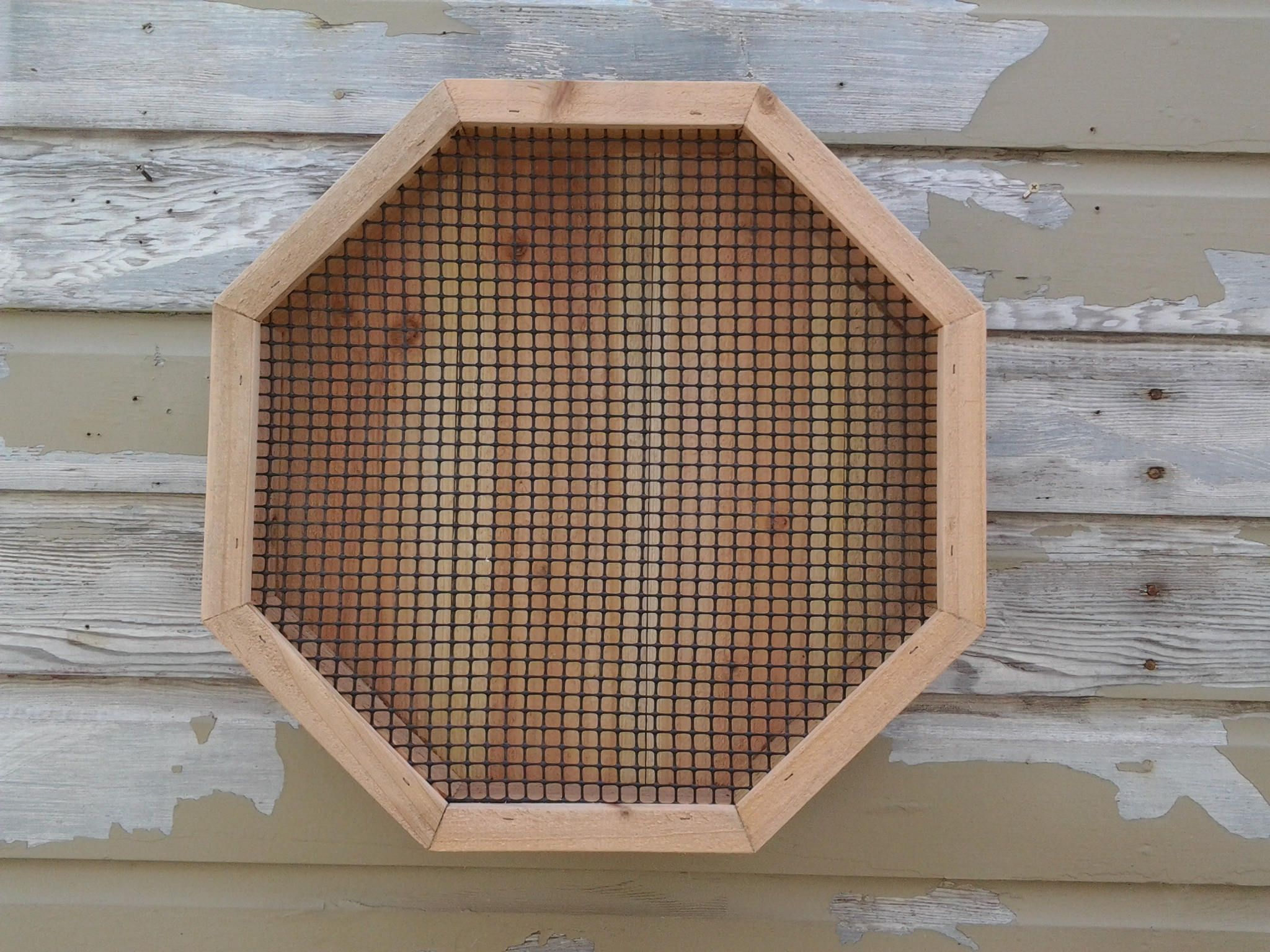"Sale 75.00 -  19"" X 19"" Handcrafted Rustic Cedar Octagon Shaped Vertical Succulent Garden Wall Planter Box. by BigfootWoodCrafts on Etsy"