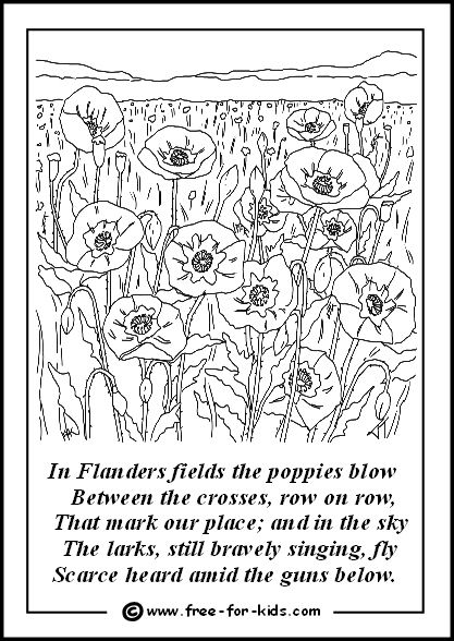 remembrance day online coloring pages | Poppies in Flanders Fields | Remembrance day art ...