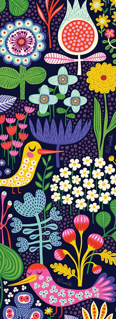 Night Garden       (orange you lucky!) is part of Night garden Illustration - It's been a long while since I blogged patterns    Time to get back to it)