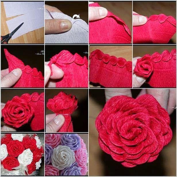 Flowers Crepe Paper Roses Paper Roses Crepe Paper