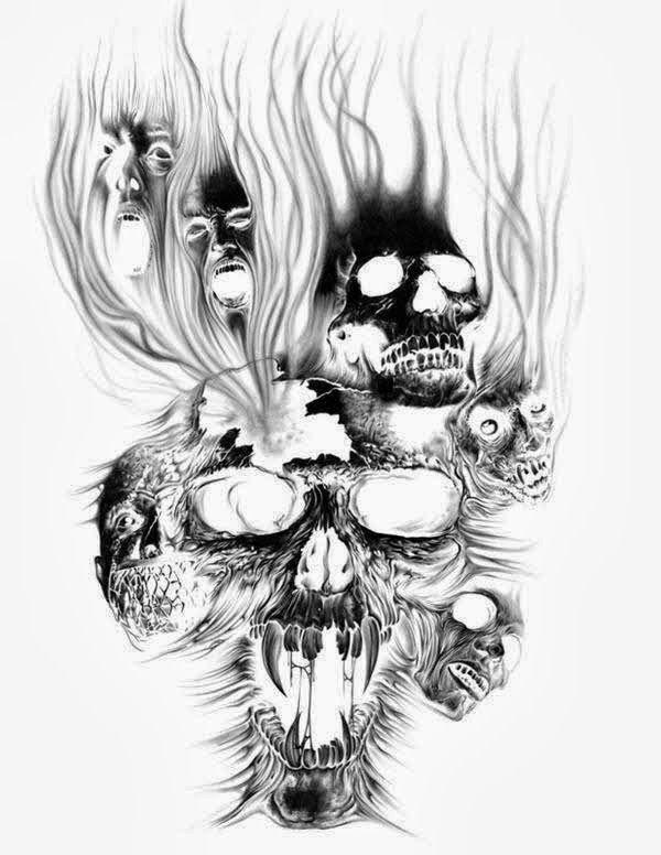Black And White Tattoo Designs Google Search Evil Skull Tattoo Evil Tattoos Skull Tattoo Design