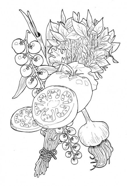 Garden goods--would make an awesome coloring page ...