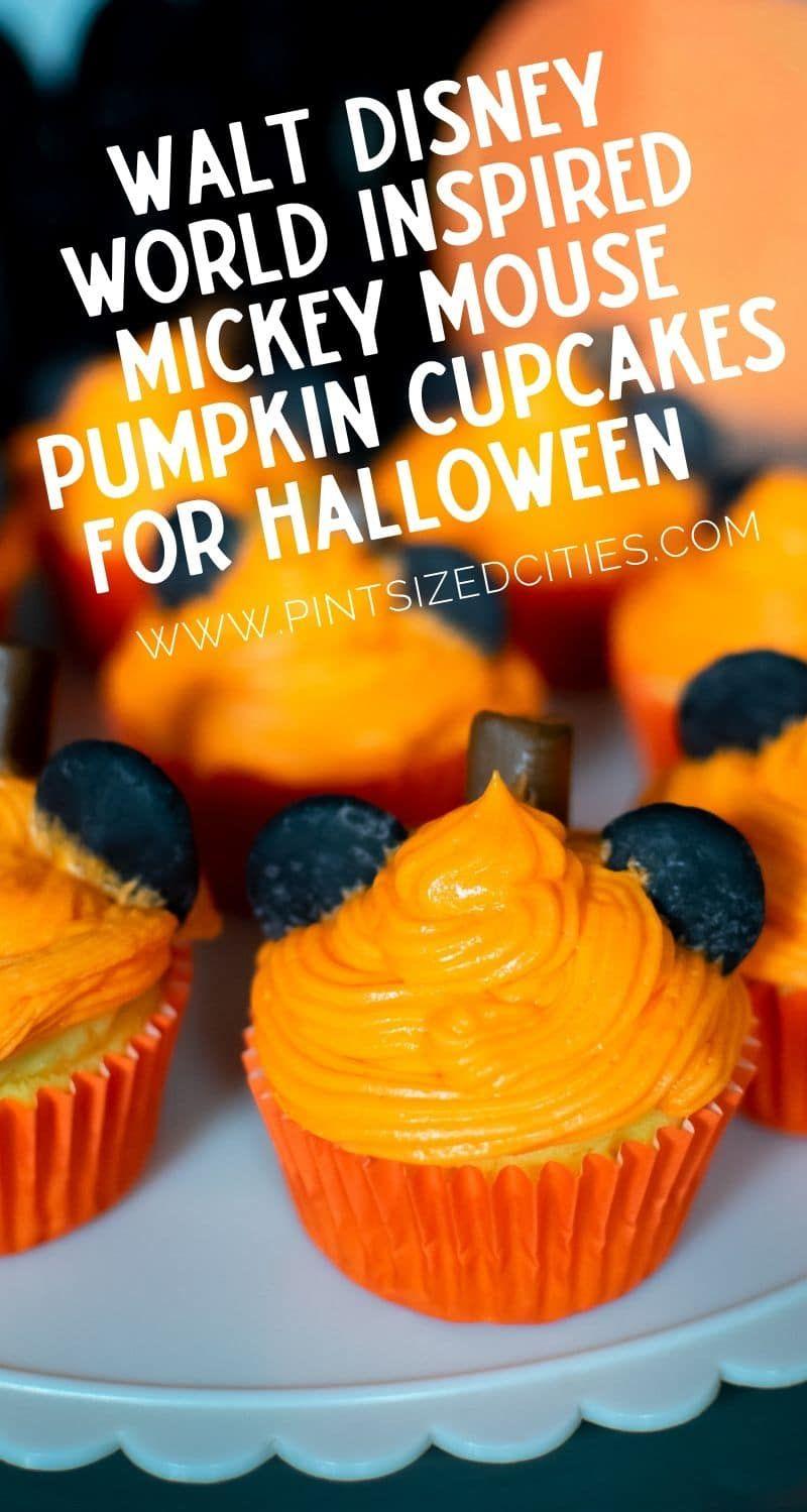 Walt Disney World Inspired Mickey Mouse Pumpkin Cupcakes