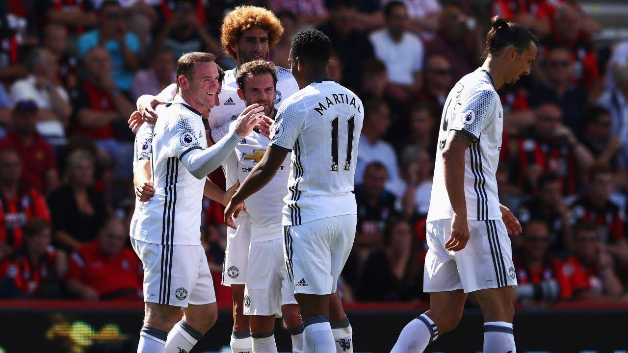 Manchester United Vs Bournemouth 3 1 2016 Hd Manchester United Afc Bournemouth Juan Mata