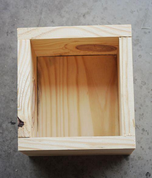 Diy centerpiece mini planter boxes wood woods