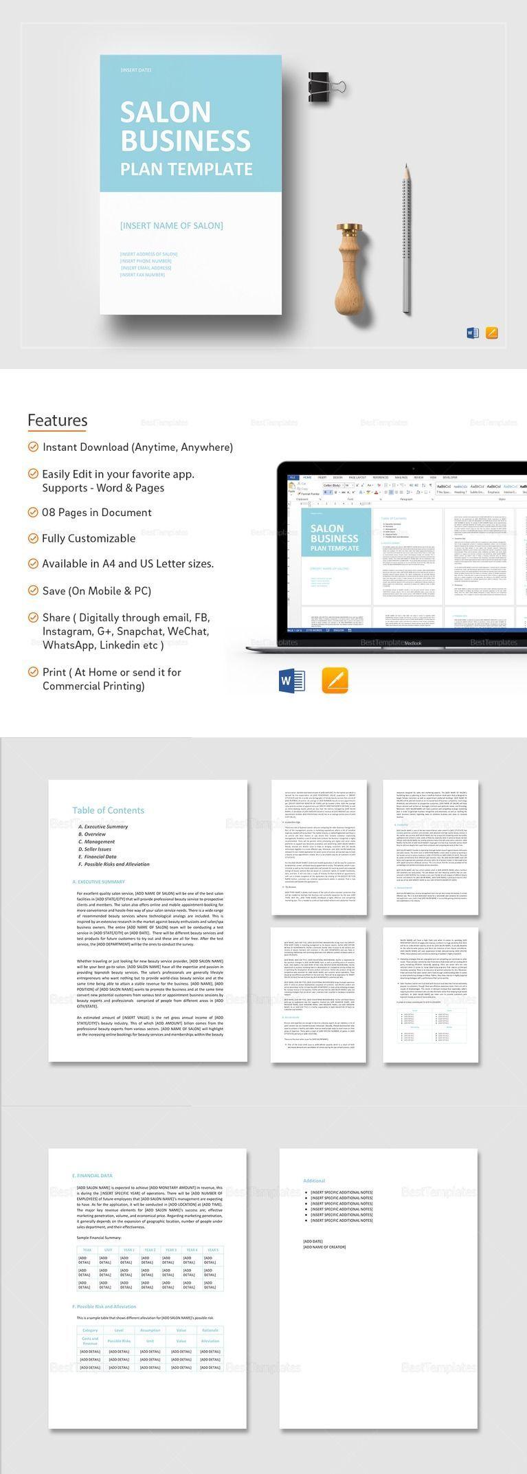 Pin on Business Plan Templates Printable & Professional