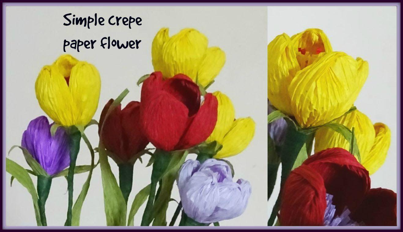 Simple crepe paper flower diy youtube paper flower pinterest simple crepe paper flower diy youtube mightylinksfo