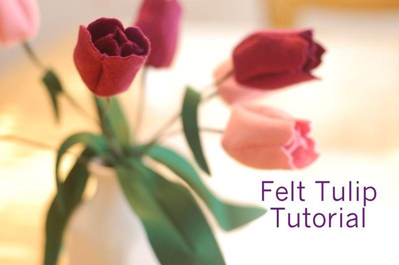 Springtime Craft Tutorial Felt Tulips Felt Flower Tutorial