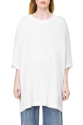 Weekday image 11 of Huge T-Shirt Dress in White