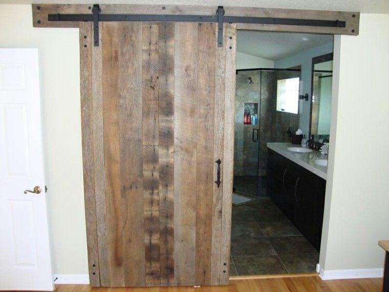 puerta corredera madera cuarto bao - Puertas Correderas De Madera
