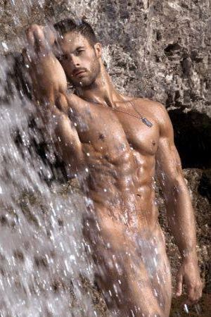 Hot nude in waterfalls