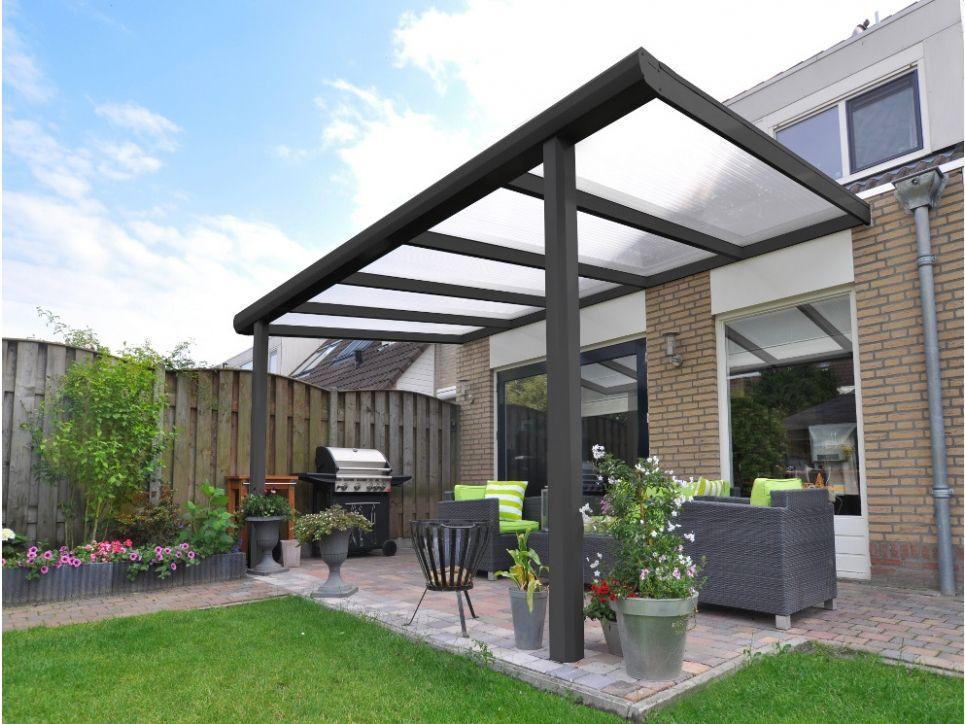 P rgola estrella de aluminio y policarbonato 4x3m gris for Casetas aluminio para terrazas