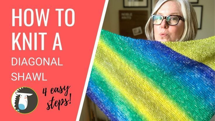 Photo of How to Knit a Triangle Shawl for Beginners | 4 Easy Steps! – YouTube,  #Beginners #Easy #easy…