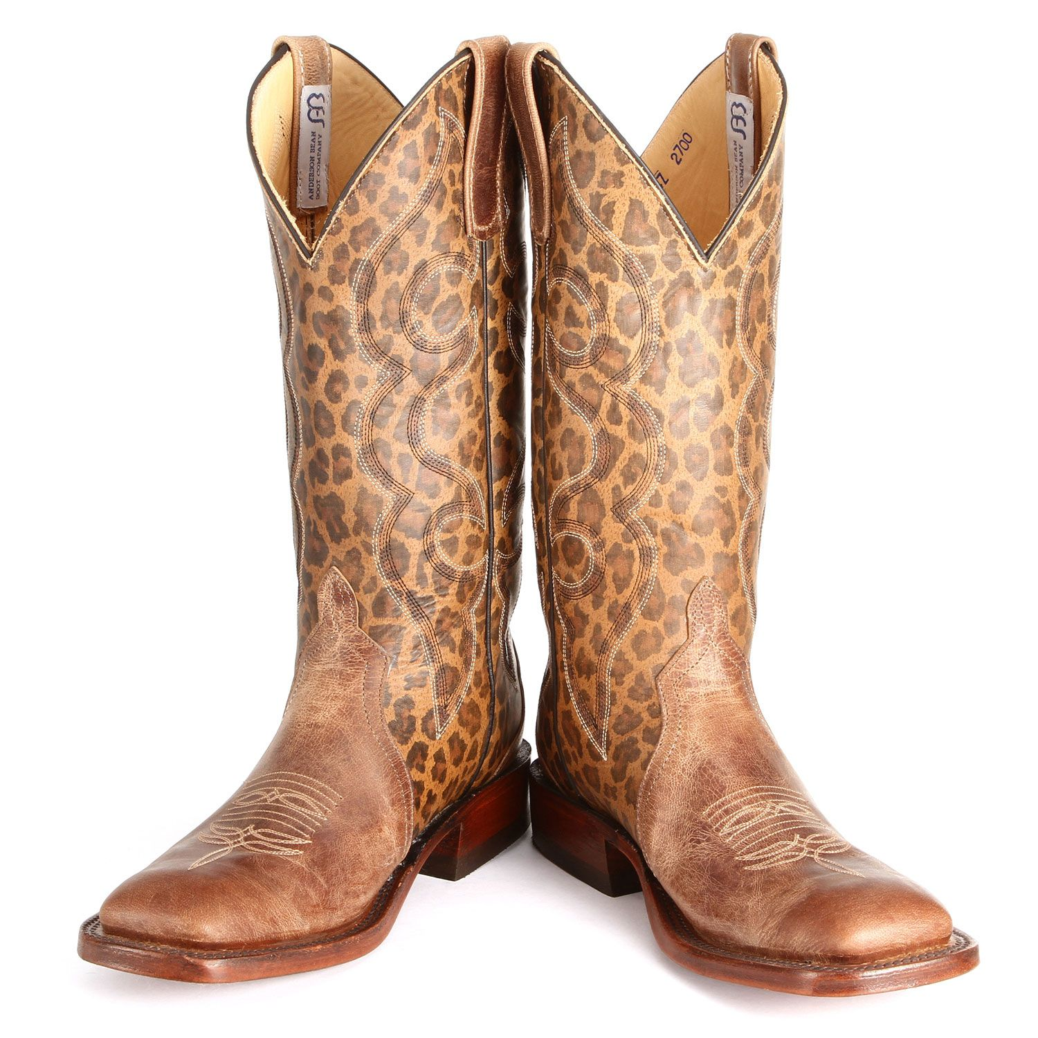 9d1080a2483 Leopard Print Anderson Bean Cowboy Boots | Snake River Country Girl ...