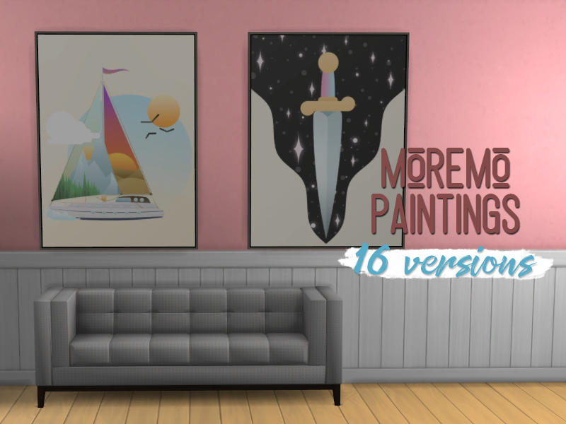 midnightskyims — I really needed more paintings in the sims