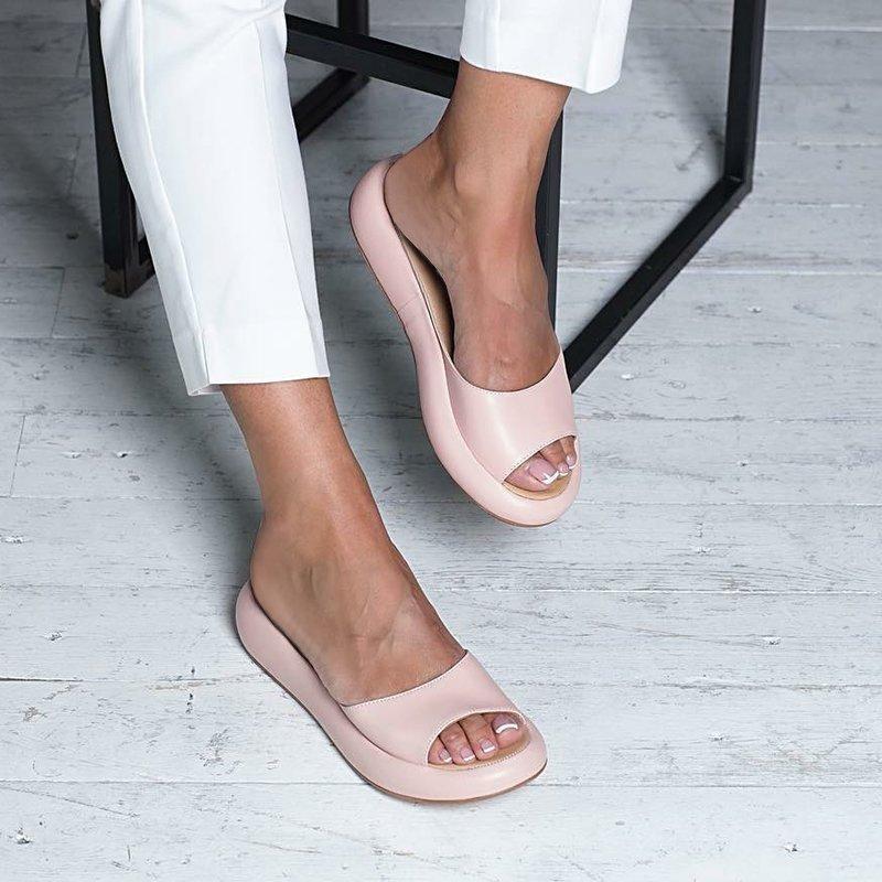 Fashion Footbed Peep Toe Slip On