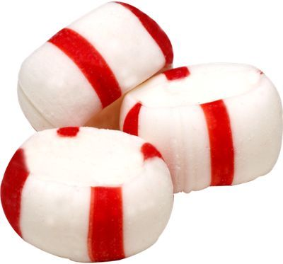Light porous peppermint puffs melt in your mouth.  Ours are individually wrapped.