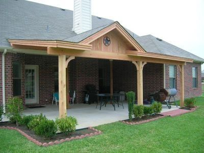 Handy Gardening Backyard Porch Patio Roof House With Porch