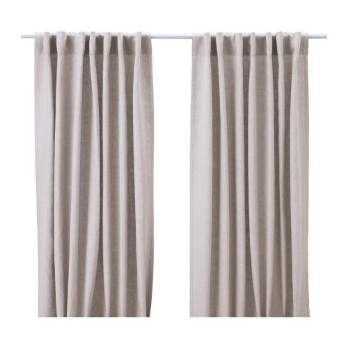 AINA Rideaux, 1 paire IKEA Le lin donne au tissu son aspect naturel ...