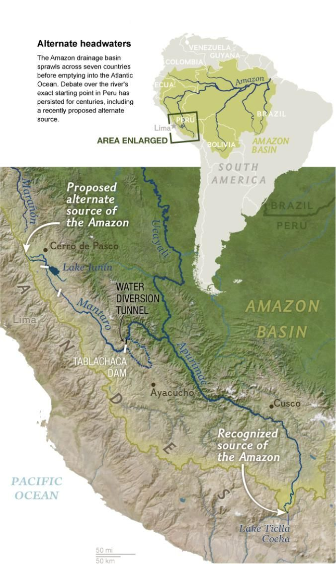 Where Does The Amazon River Begin Amazon River River Over The