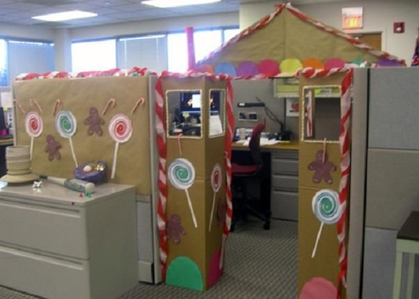 How To Decorate An Office Cubicle Holiday Pinterest
