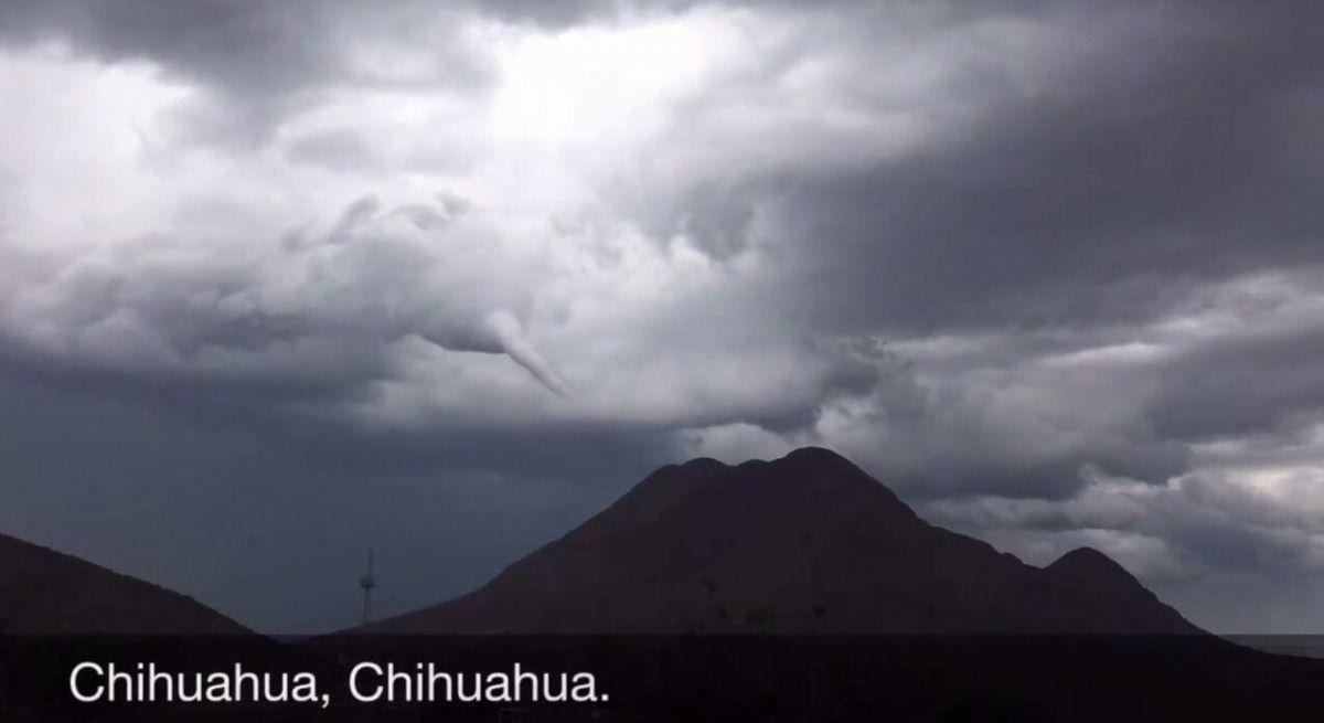 Sorprende a chihuahuenses fenómeno similar al de un tornado | El Puntero
