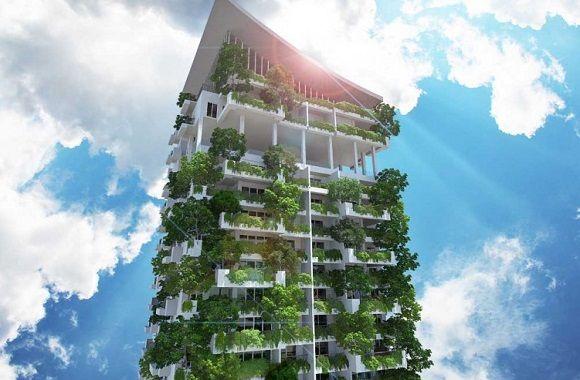 Clearpoint Residencies In Sri Lanka Der Grosste Bewohnte Vertikale Garten Der Welt Grune Architektur Vertikaler Garten Und Sri Lanka