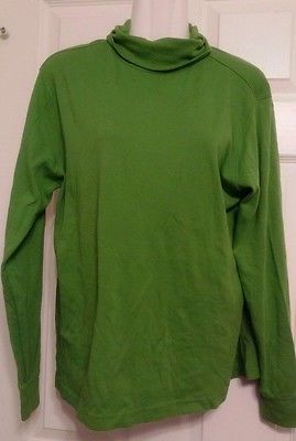 Lands-End-Womens-Green-Turtleneck-Shirt-Size-M-10-12