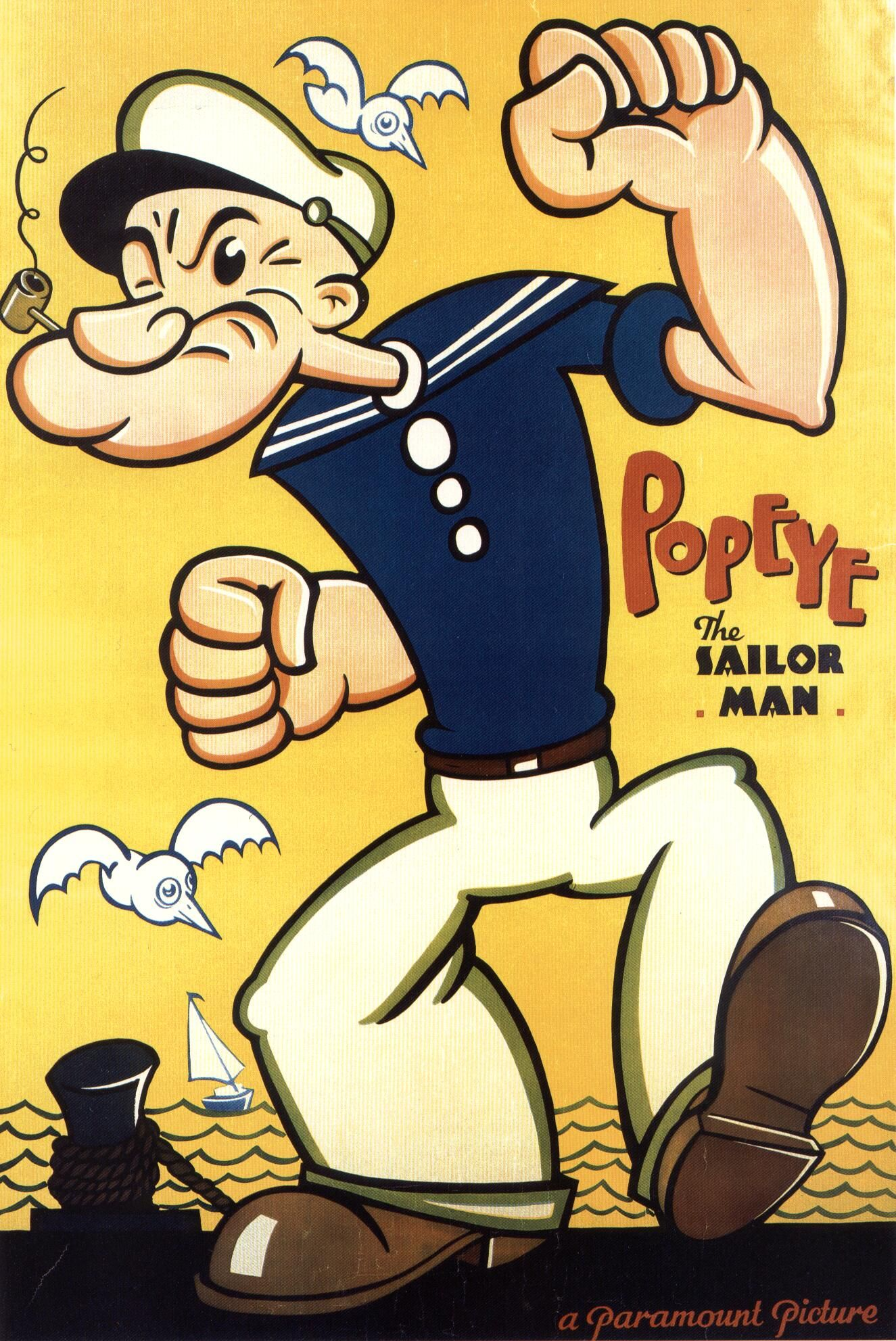 popeye the sailor man hd image wallpaper for android cartoons wallpapers