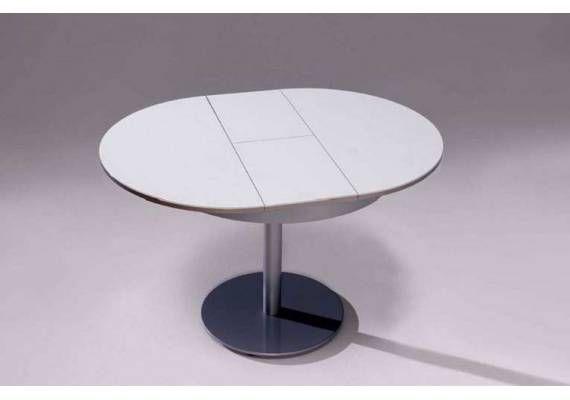2d77e435 mesa redonda extensible center encimera cristal | ideas para casa ...