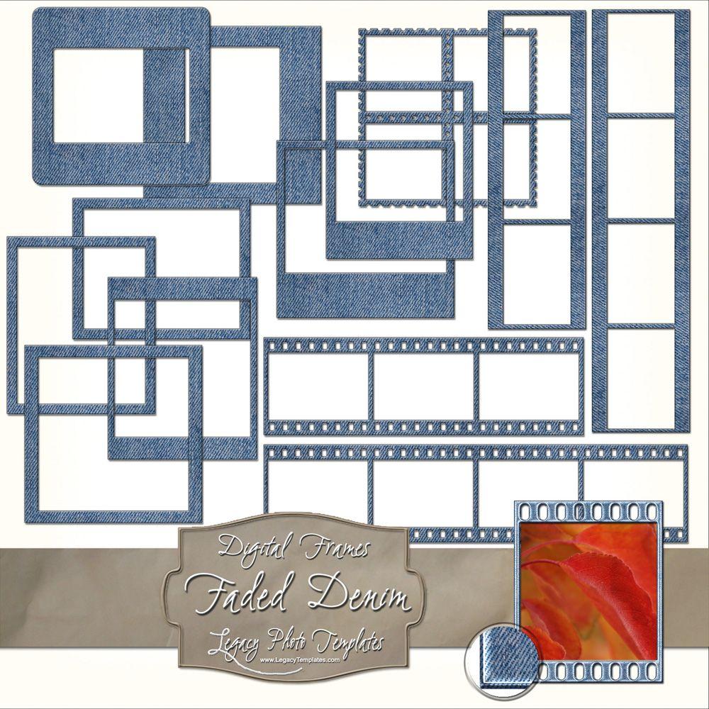 Faded Denim Digital Photo Frames can be printed or used digitally ...