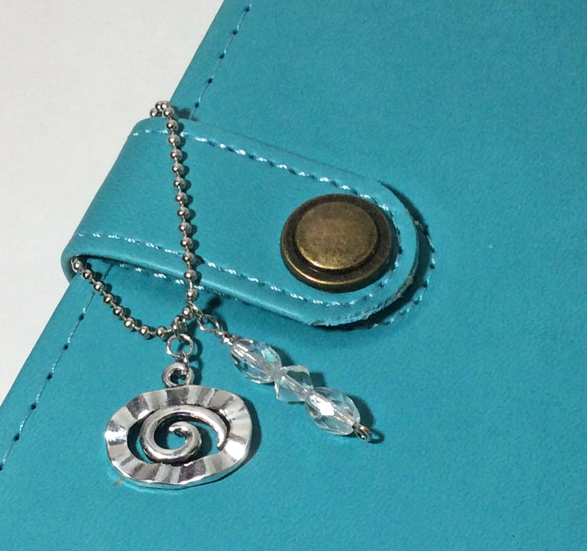 Planner stuff. Planner charm.Planner goodies. Purse charm. Crystal charm. Zipper charms. Ball chain charm. Handbag charm. Spiral notebook. by LaBellaBottega13 on Etsy