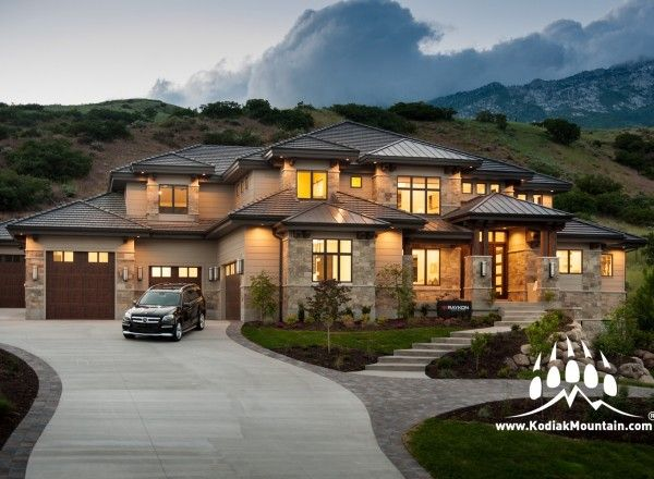 Sawtelle Kodiak Mountain Stone Luxury Homes Exterior Luxury Homes Dream Houses Modern House Plans